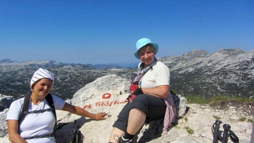 Lina z družbo na vrhu Tičarice