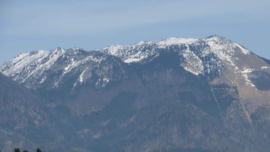 Cjanovca (1820m)  in Srednji vrh (1853 m)